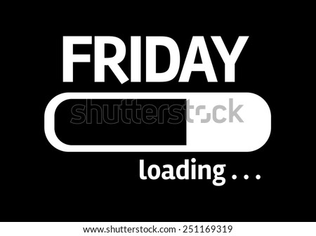Black board with inscription: Friday - stock photo