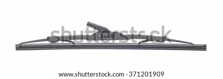 Black boat wiper isolated on white - stock photo