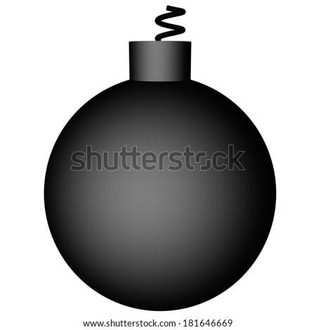 Black bomb isolated over white, 3d render - stock photo