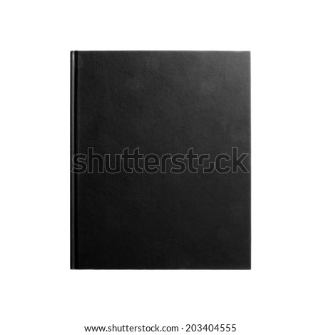 Black book. Closed book is laying on white. #1  - stock photo