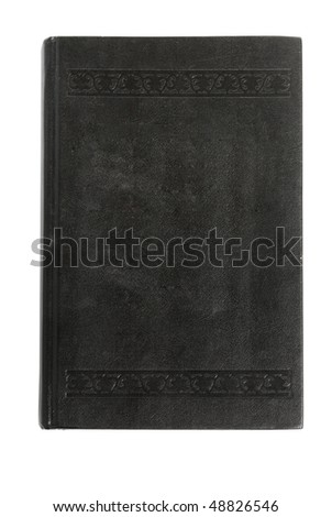 black book isolated on the white background - stock photo