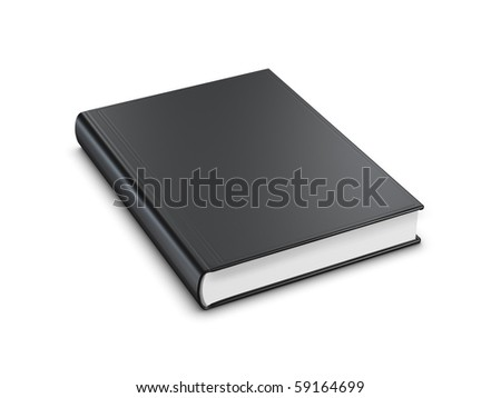 black book isolated on white