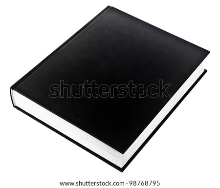 black book isolated on white - stock photo