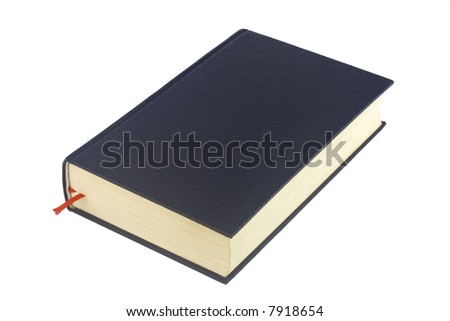 Black book isolated on white background - stock photo