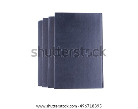 black book on a white background