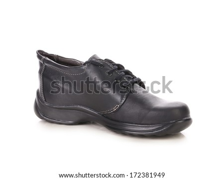 black boots men on white background