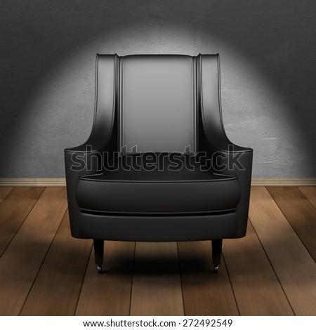 Black Boss Chair - stock photo