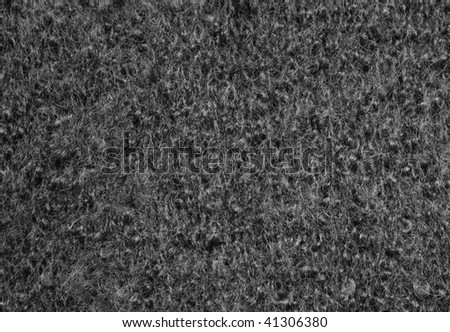 Black boucle texture - stock photo