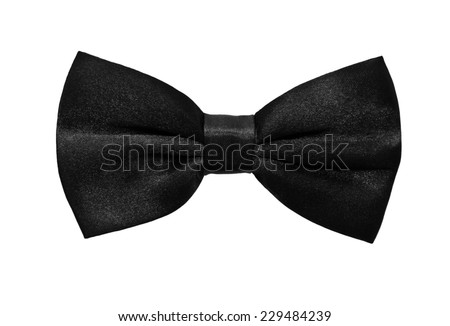 Black bow tie on a white background  - stock photo