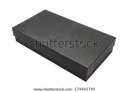 Black box closeup on white background - stock photo