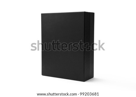Black box isolated on white - #5 - stock photo