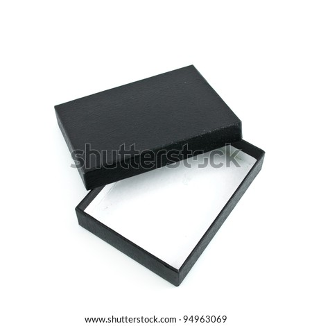 black box isolated on white background - stock photo