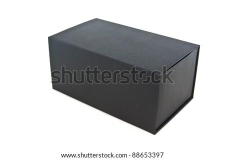 black box on white isolated - stock photo