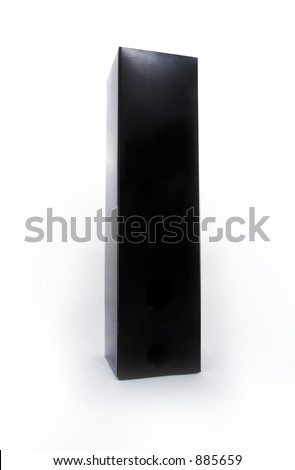 Black box with a white background. - stock photo