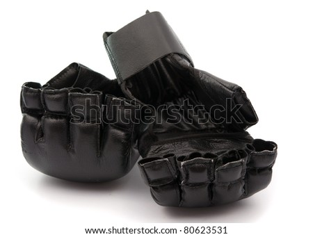 black boxing gloves on white background