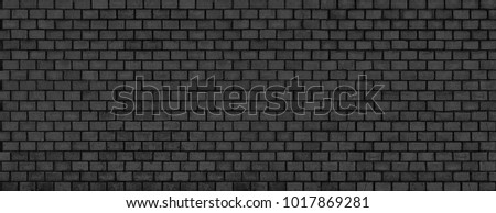 black brick wall background,  stone texture