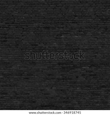 black brick wall texture background - stock photo
