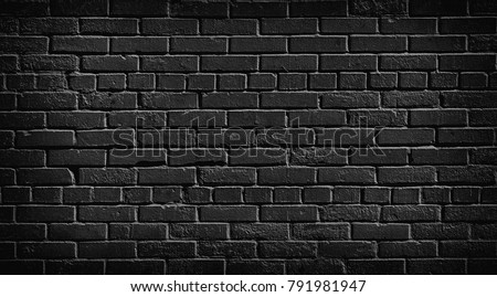 Black Brick Wall Texture Dark Stone Surface For Background Vintage Wallpaper And Backdrop