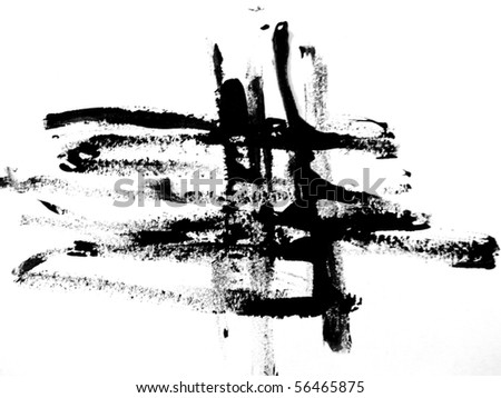 Black Brush Strokes 4 - stock photo