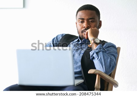 black business man with notebook 02