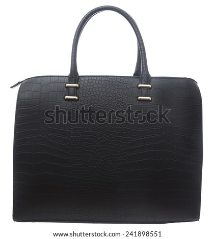 Black Business Purse isolated on white background - stock photo