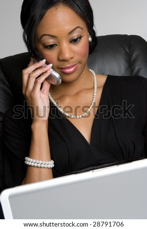 Black Businesswoman - stock photo