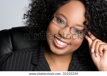 Black Businesswoman Wearing Glasses