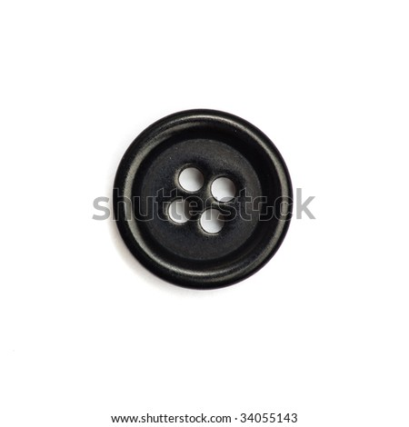 black button isolated - stock photo