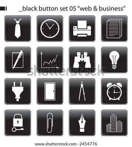 "black button set 05""web & business"""