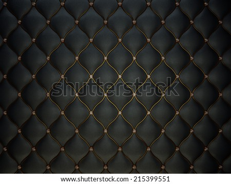 Black Buttoned luxury leather pattern with diamonds and gemstones. Useful as luxury pattern - stock photo