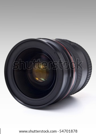 Black camera lens - stock photo