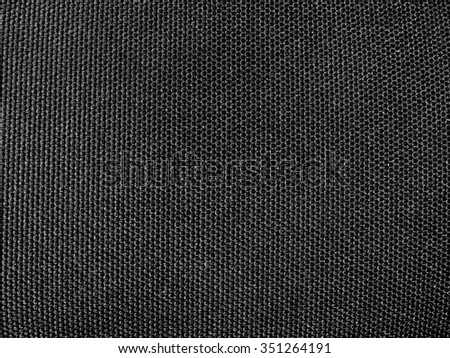 black canvas background grid pattern linen texture - stock photo