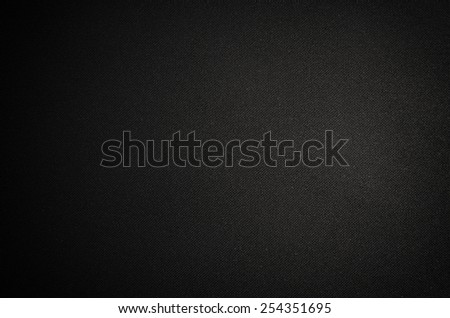 Black canvas background or texture - stock photo