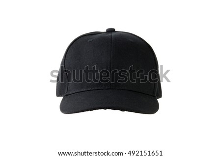 black canvas cap, isolated on white