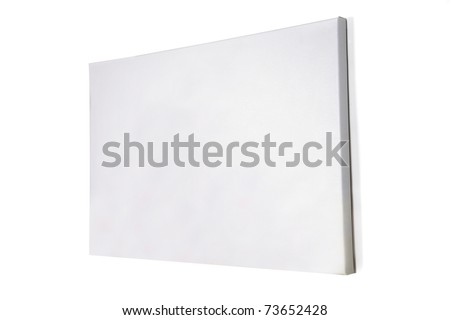 black canvas han on the wall - stock photo