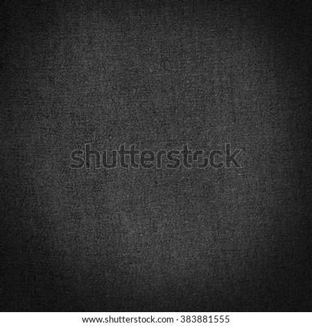 black canvas texture background - stock photo
