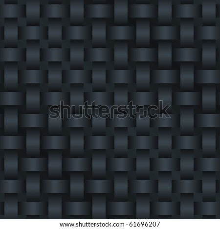 Black Carbon Background  (seamless pattern) - stock photo