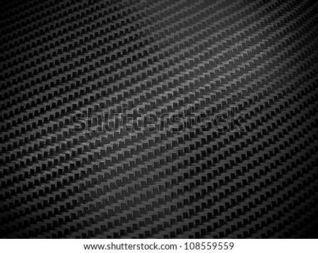 Black carbon fiber background - stock photo