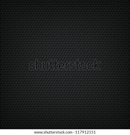 Black carbon seamless pattern - stock photo