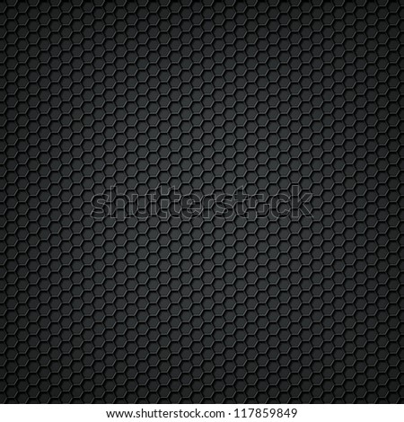 Black carbon texture background - stock photo