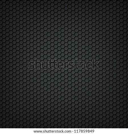 Black carbon texture background - stock photo