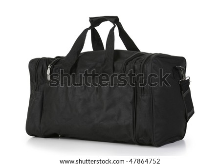 Black Carry On Duffel Bag - stock photo