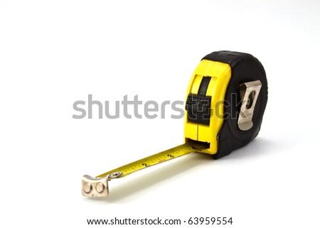 black cartridge meter isolated on white background - stock photo