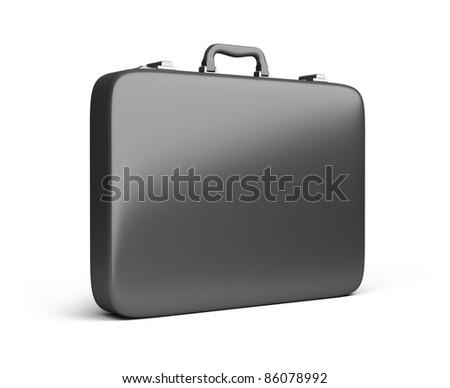 black case. 3d image. Isolated white background. - stock photo