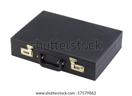 Black case isolated on white background - stock photo