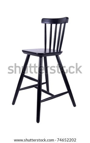 Black chair on a white background