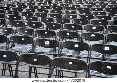 Black chairs - stock photo
