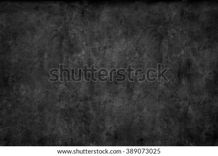 Black Chalkboard Texture Abstract Dark Blue Blackboard Background Classroom Chalk Erased School Vintage Monochrome Square - stock photo