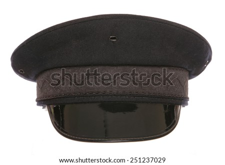 black chauffeur fancy dress hat cutout