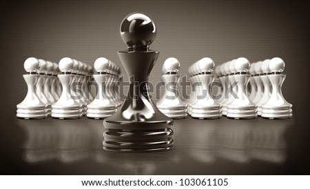 Black chess pawn abstract background 3d illustration. high resolution - stock photo